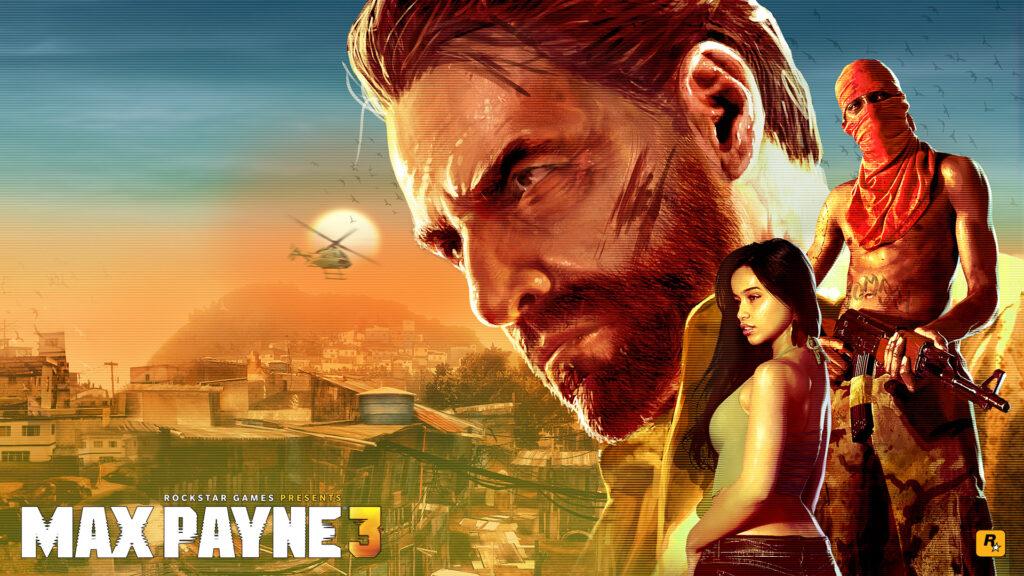 Uma visão panorâmica de alguma comunidade da cidade de são paulo com o protagonista e outros dois personagens.