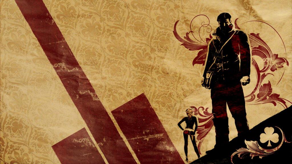 Uma imagem conceitual de the saboteur, com o protagonista em destaque