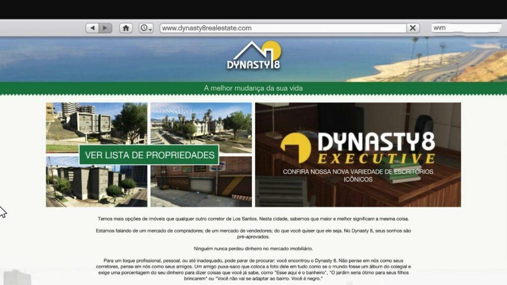 Dynasty8 para compra de casas e apartamentos no gta online