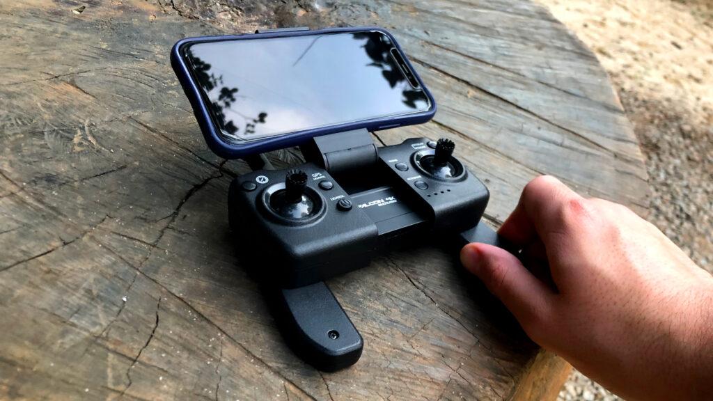 Usando o celular de tela com o falcon 4k