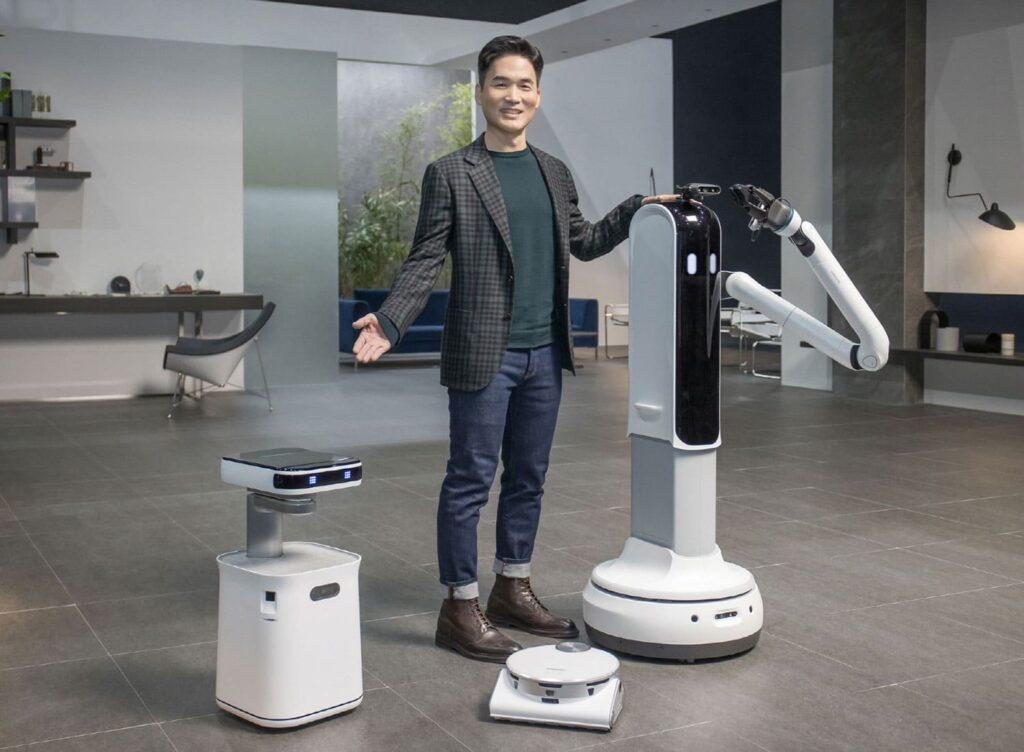 Robôs apresentados pela samsung na ces 2021.