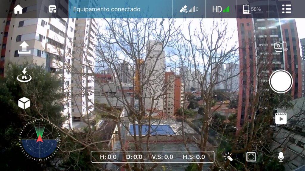 Aplicativo para smartphone do falcon 4k da multilaser