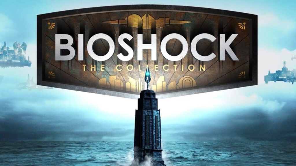 Farol ao mar com o logotipo de bioshock: the collection.