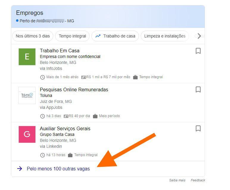 Procurar trabalho remoto google