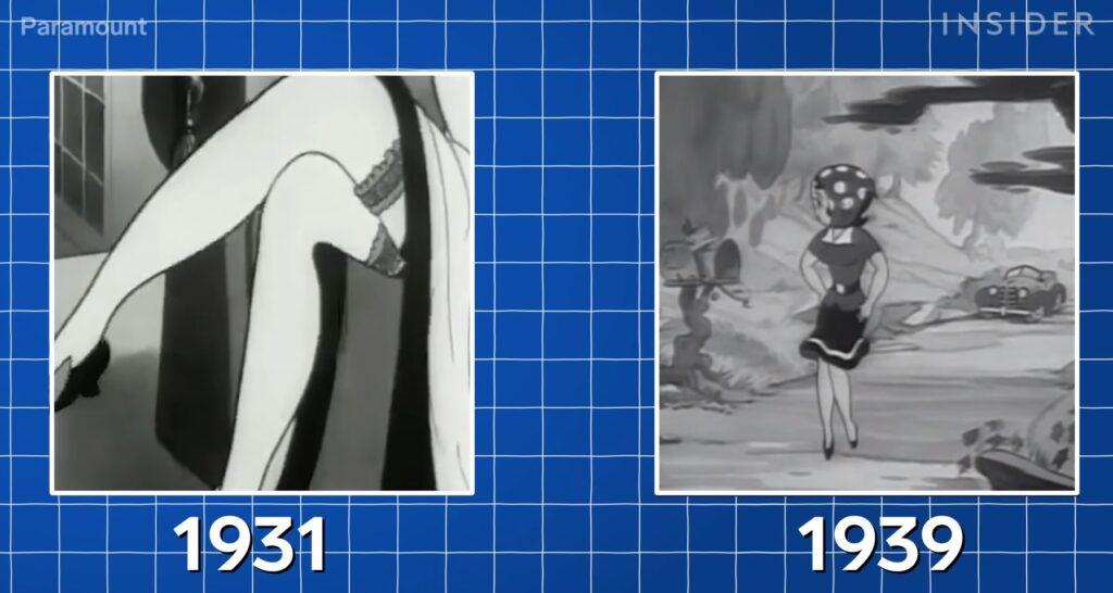 Comparação em desenhos antigos