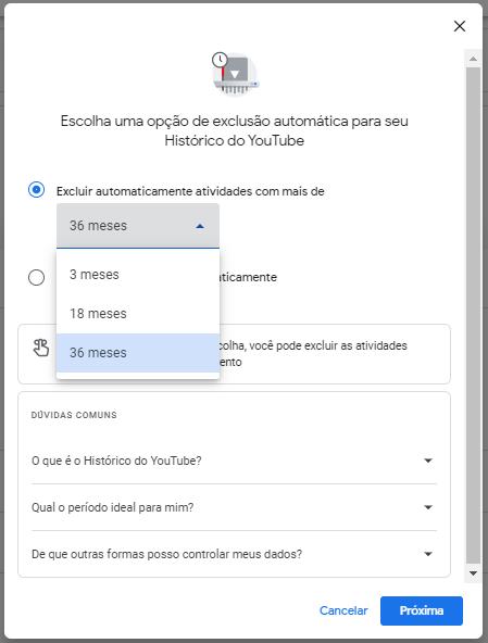 Programando a exclusão automática