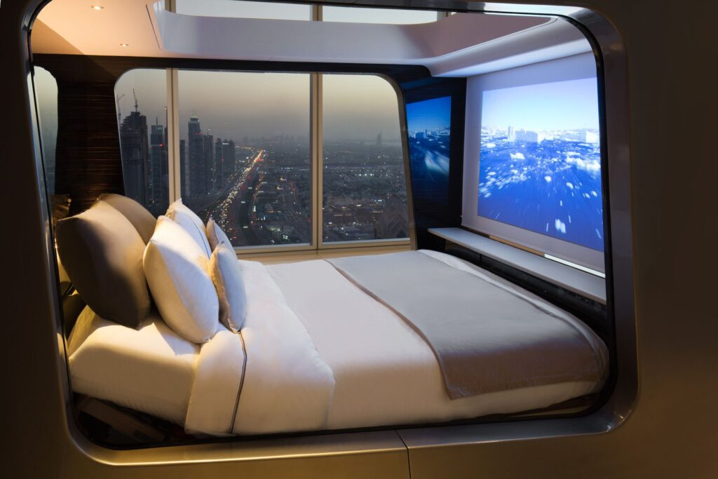 Esse conceito de cama smart vai analisando todos os dados de sono do usuário, além de informações como respiração e afins.