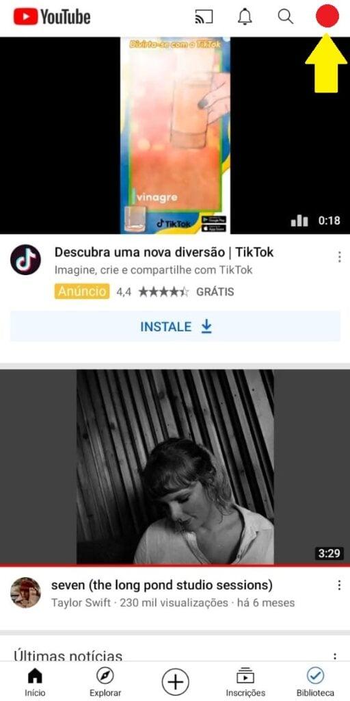 Perfil youtube