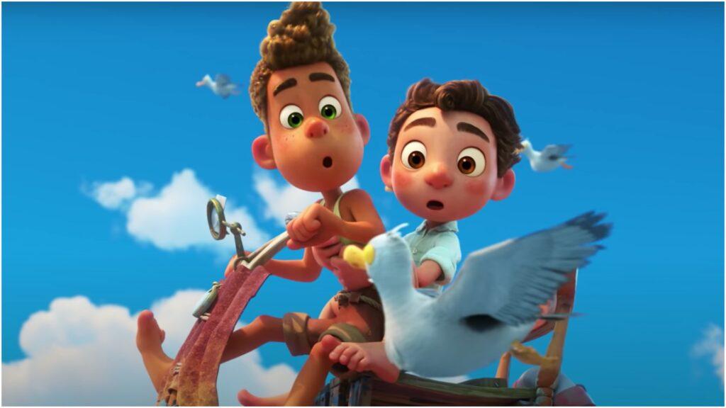 Imagem com os protagonistas do filme luca