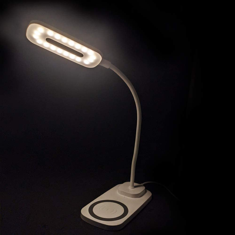 Luminária com carregador sem fio