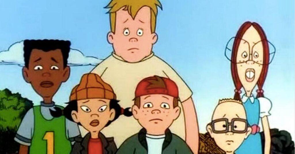 Personagens principais da animação a hora do recreio de 1997
