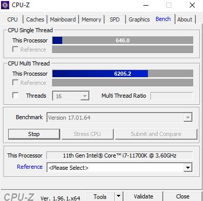Intel i7 11170k