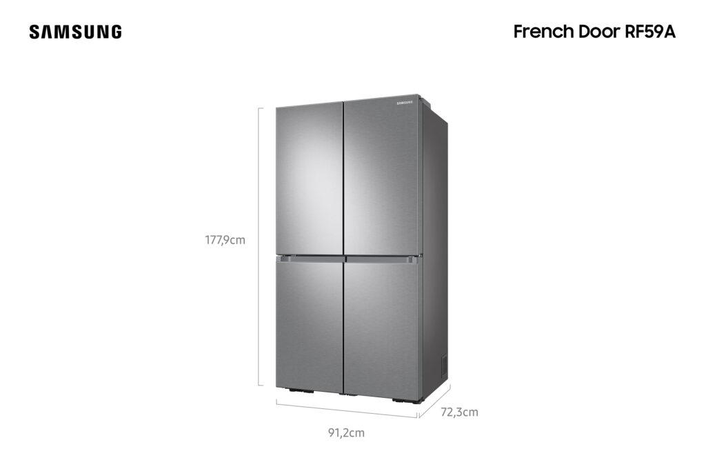 Geladeira rf59a, da samsung, traz design clean e jarra de água automática