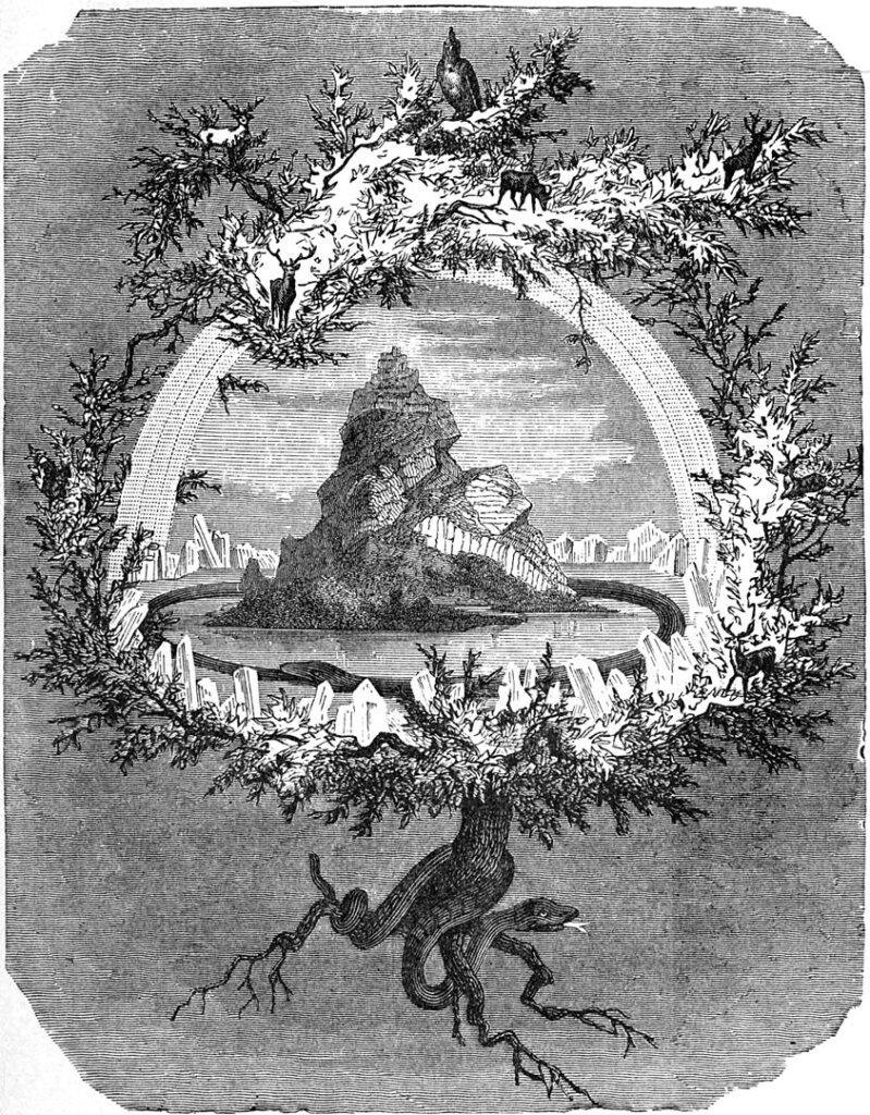 Yggdrasil, pelas mãos do artista friedrich wilhelm heine.