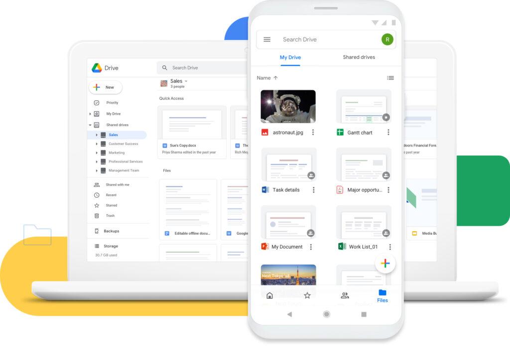 Com o google drive você armazena seus documentos e arquivos na nuvem