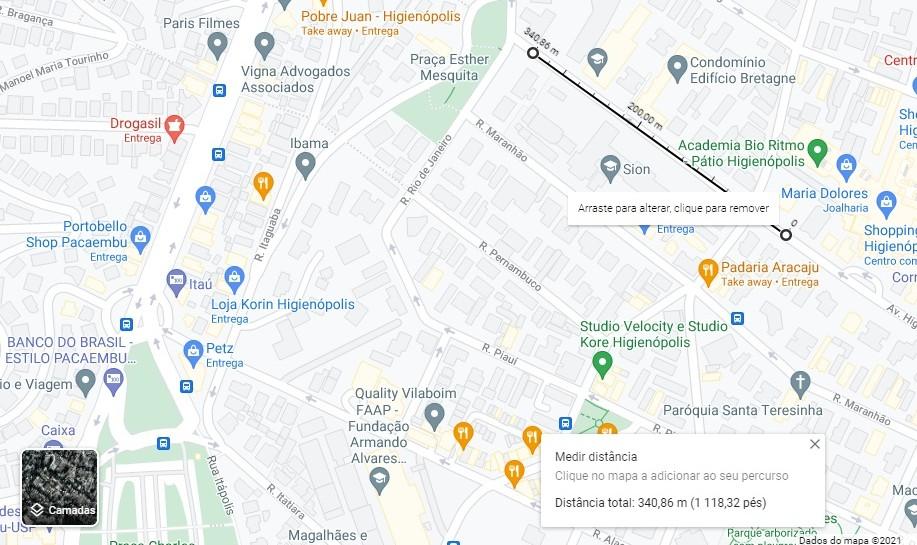 Meça distâncias - dicas e truques para o google maps