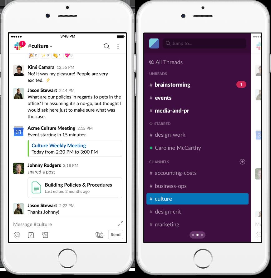 O slack organiza de uma forma dinâmica a comunicação da empresa