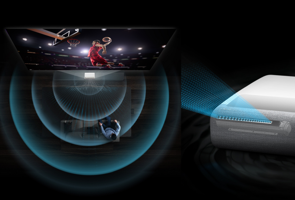 The premiere, o projetor da samsung que leva as olimpíadas para a sala de casa