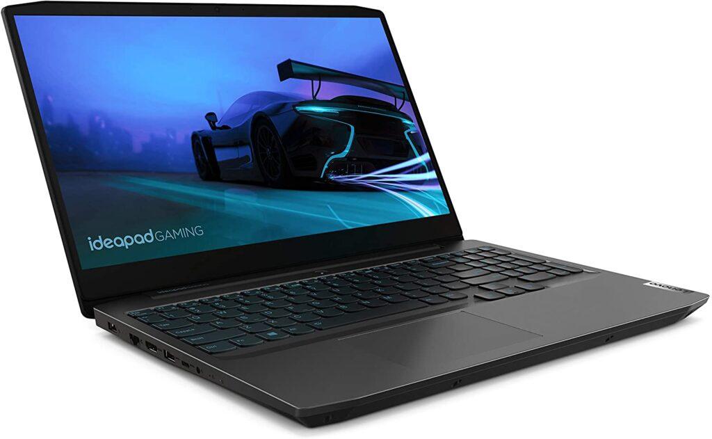 Notebook lenovo ideapad gaming aberto.