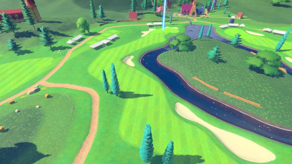 Uma das pistas de mario golf super rush