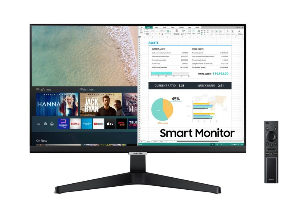 Smart monitor samsung m5 mockup