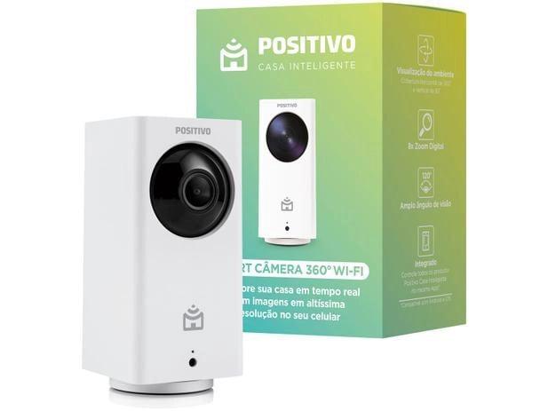 Câmera inteligente wi-fi positivo na casa conectada com google assistente