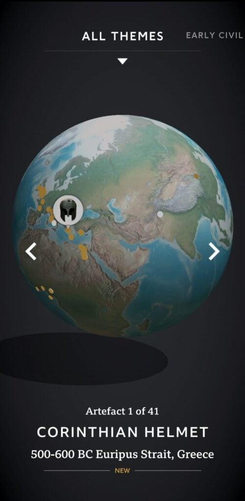 Com o app civilisations ar você vai aprender tudo sobre diversos artefatos históricos