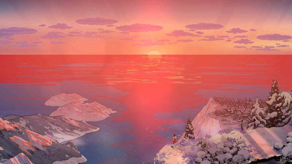 Zagreus vendo o nascer do sol em hades