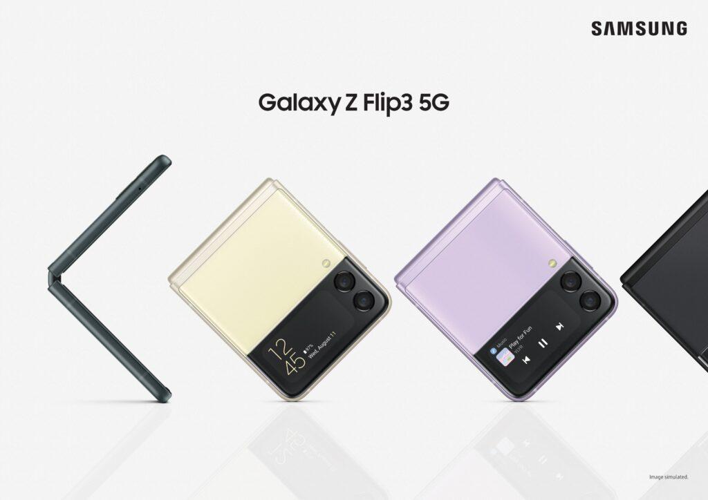 """Galaxy z flip3, novo smartphone dobrável da samsung em formato de """"concha"""""""