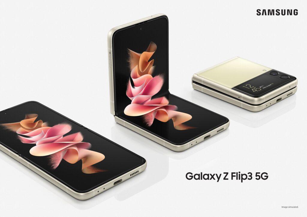 """Galaxy z flip3 em seus 3 """"tamanhos"""""""