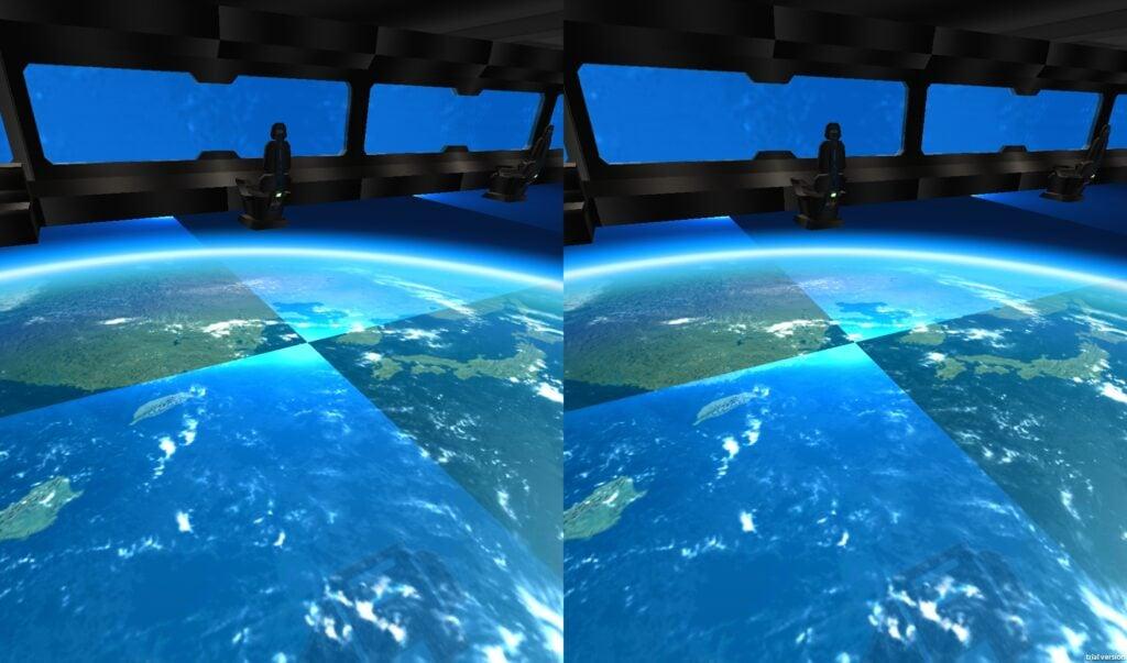Por dentro da nave em space station, um dos apps e jogos de vr e ar para android