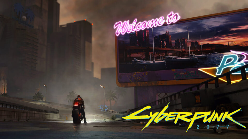 Papel de parede de cyberpunk 2077.