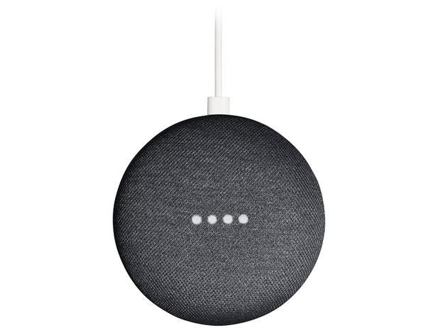 Google nest mini carvão casa conectada com google assistente