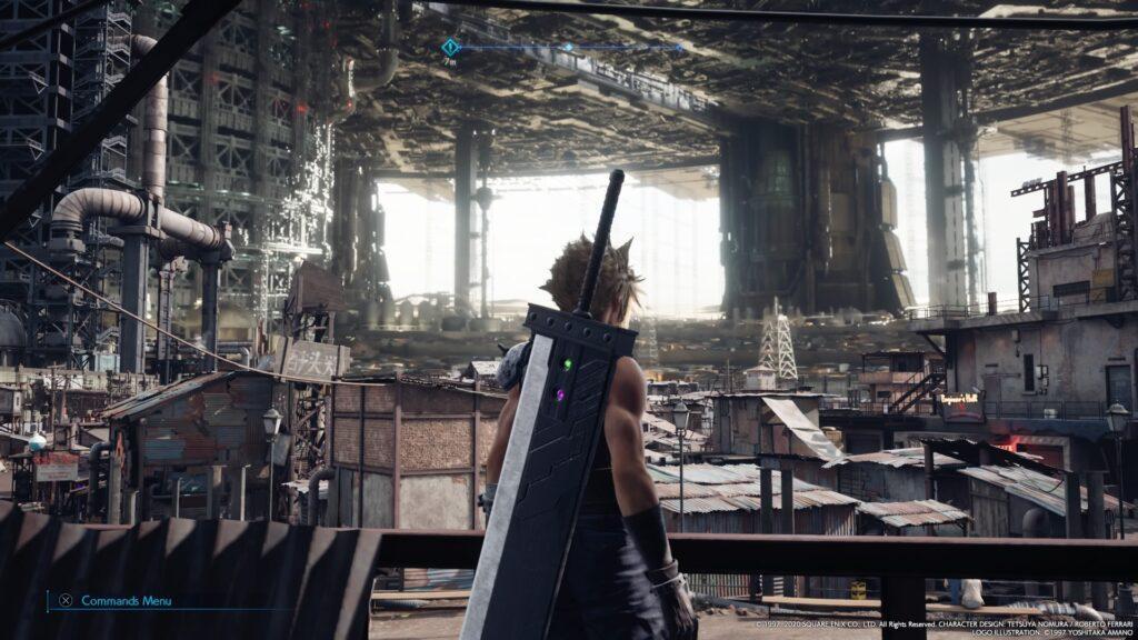 Print da tela de final fantasy vii remake.