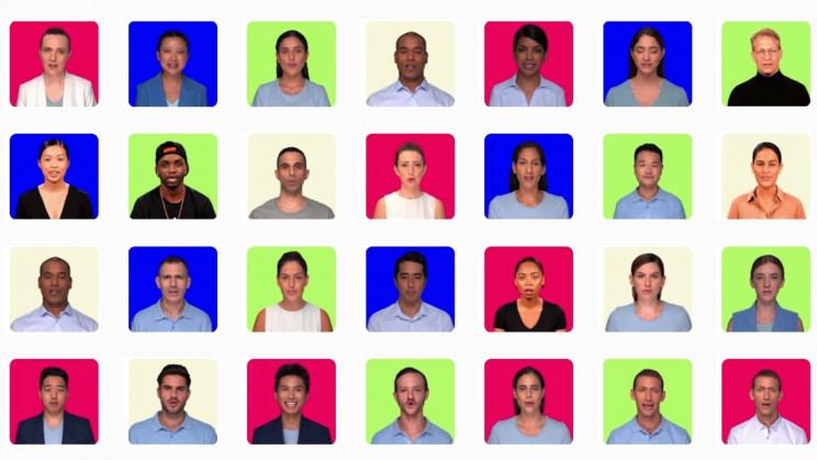 Vários rostos utilizados em deepfakes pela hour one   showmetech trio