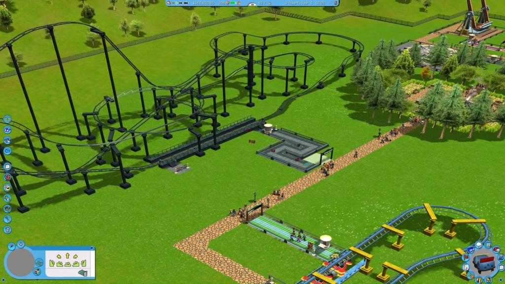 Divertido e complexo, roller coaster tycoon é um exemplo de game que pode ensinar muitas competências às crianças