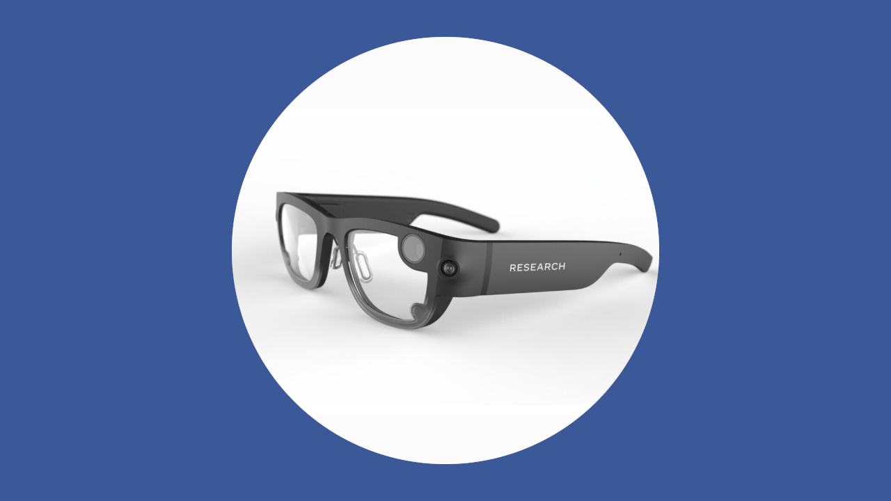 Óculos inteligente do projeto aria do facebook tem detalhes vazados