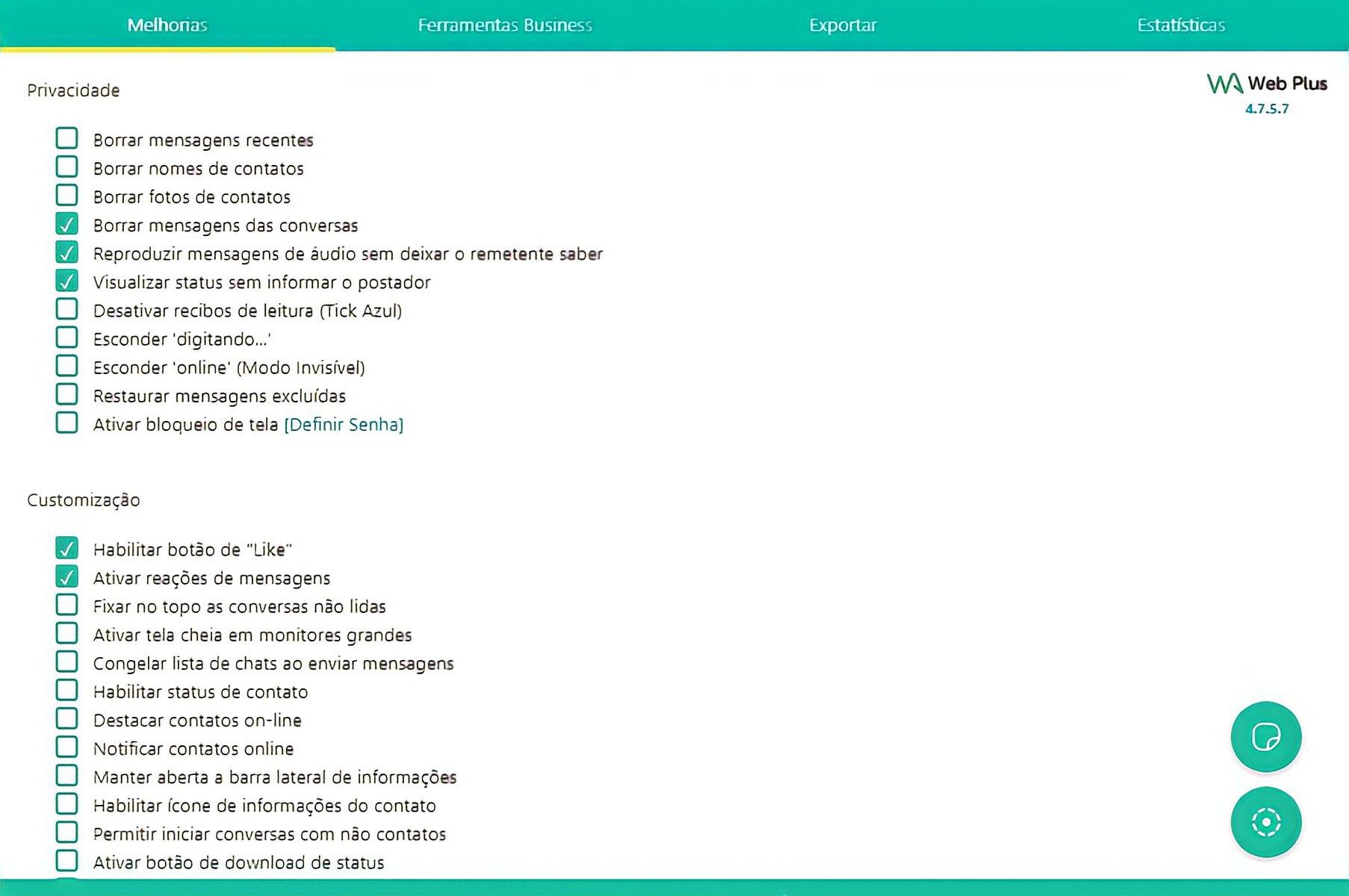 Wa web plus for whatsapp - extensões no whatsapp web