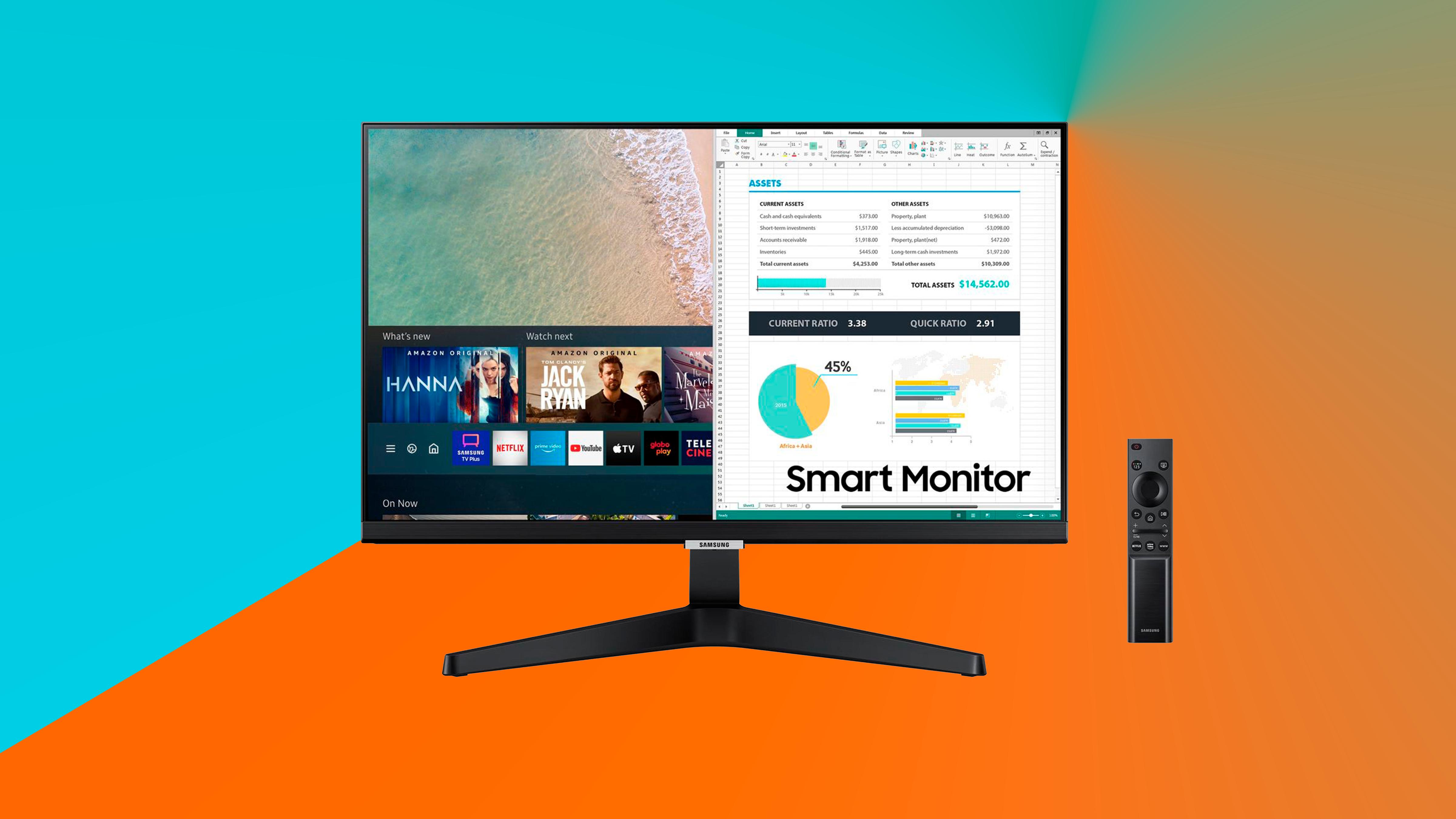 Imagem destaca smart monitor samsung m5