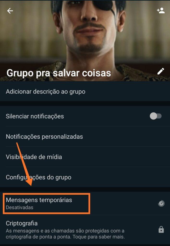 """Como ativar as """"mensagens temporárias"""" no whatsapp"""