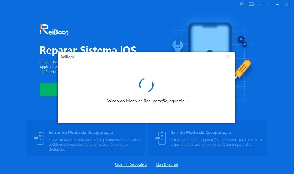 Reiboot - como reparar o sistema ios. Passo a passo