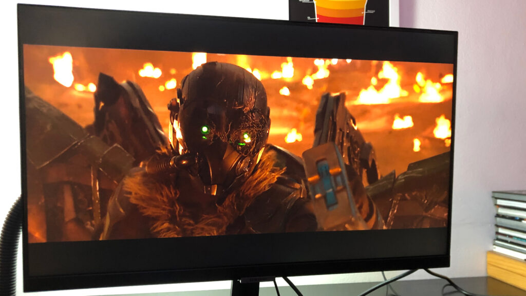 Assistindo filmes na tela do samsung m5