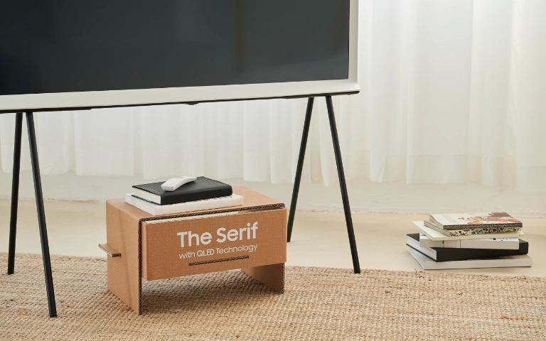 The serif, a tv design da samsung, chega ao brasil. Com design premiado assinado pelos irmãos bouroullec, samsung traz a smart tv the serif ao brasil a partir de setembro