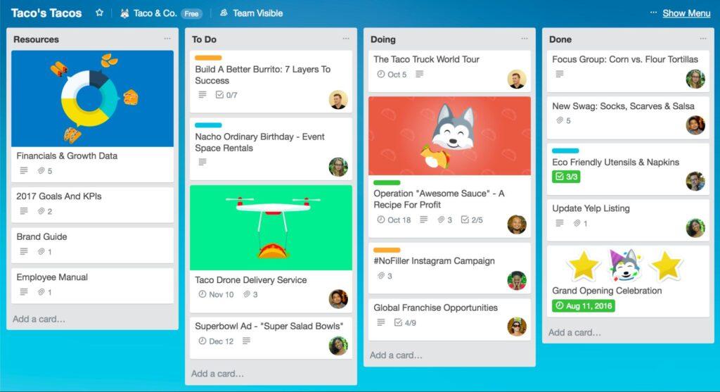 O trello é o aplicativo perfeito para organizar tarefas entre equipes