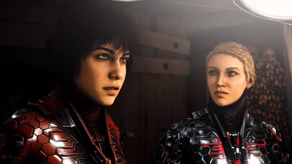 As duas protagonistas de wolfenstein: youngblood.