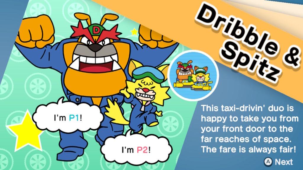 Dribble & spitz se une à equipe - warioware: get it together!