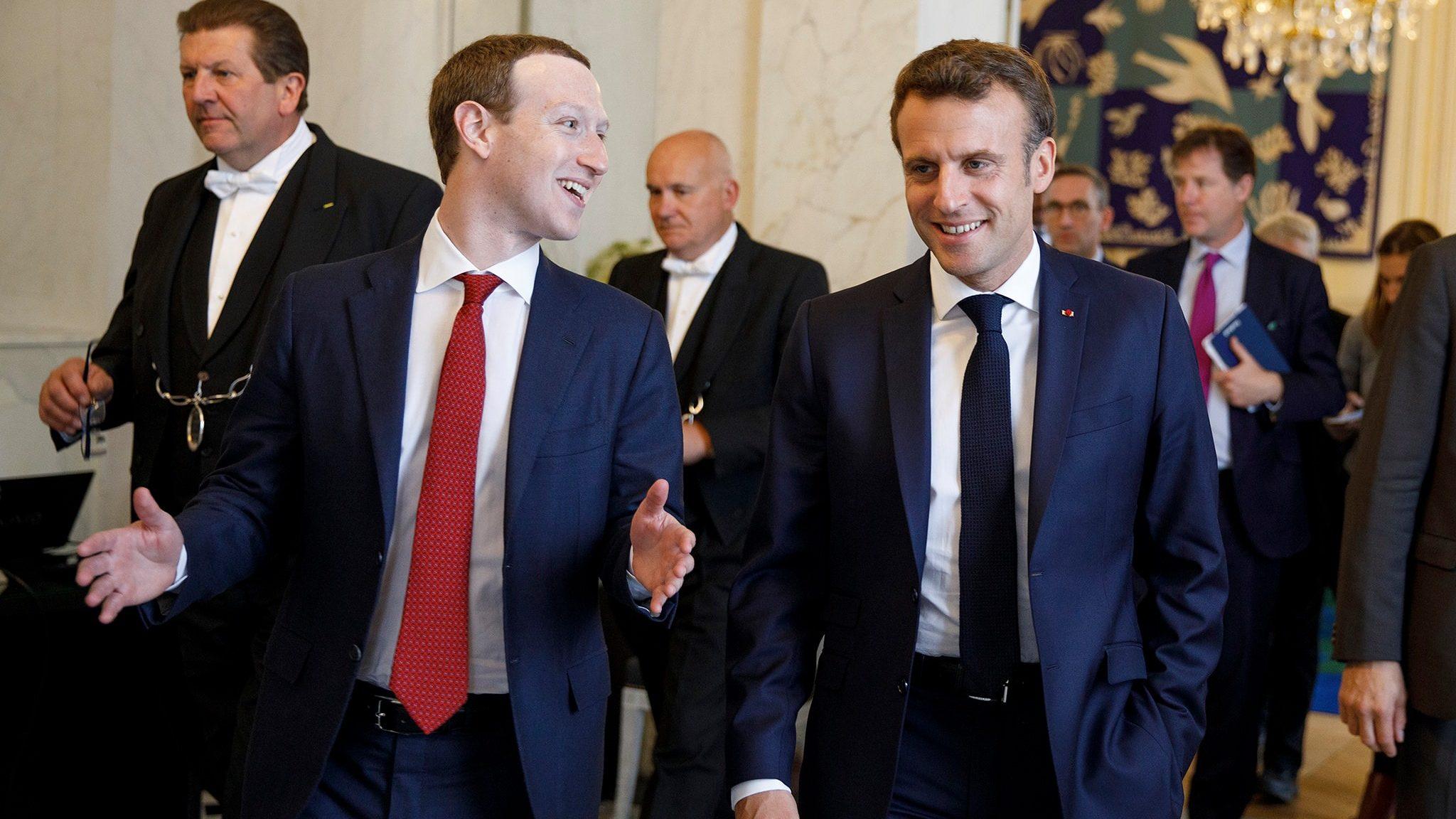 Zuckerberg e macron