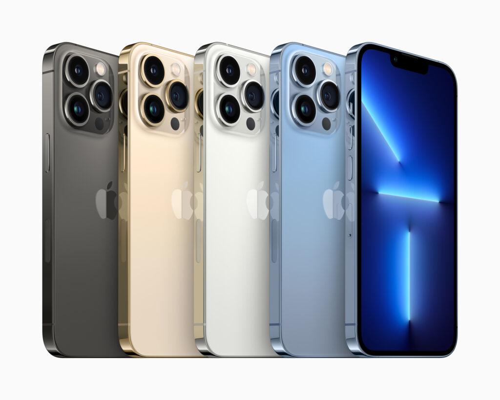 Confira as cores do iphone 13 pro e pro max