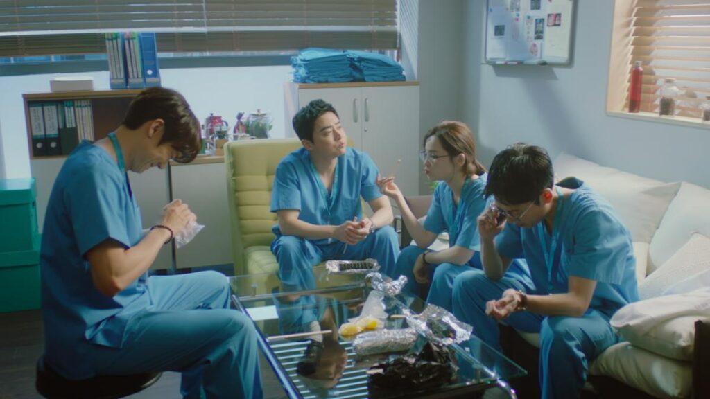 Cena da segunda temporada de hospital playlist