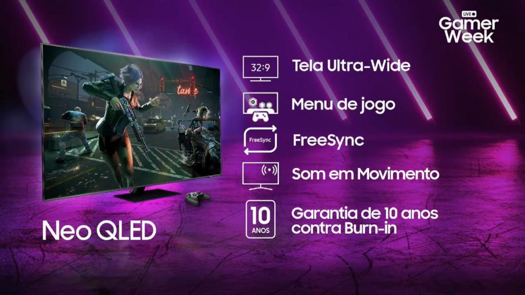 Samsung apresentou novas neo qled para público gamer